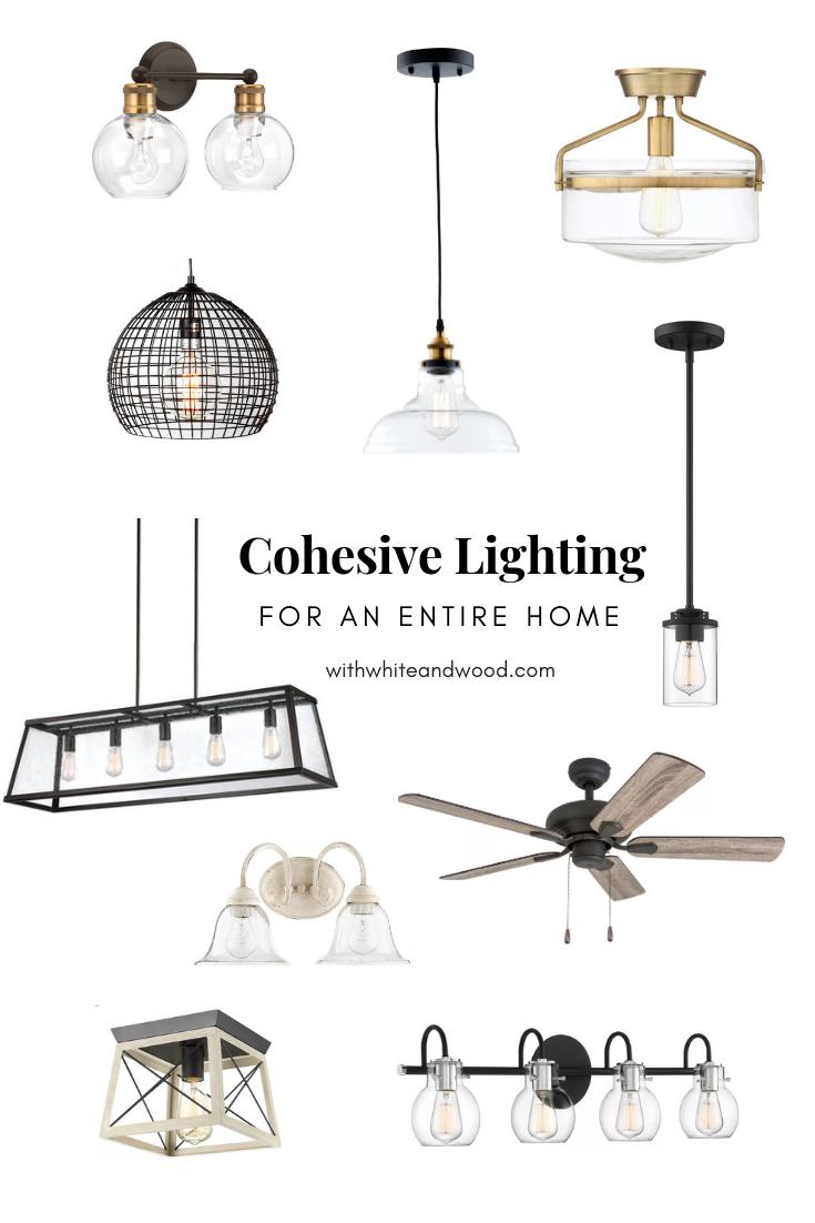 mixing styles of interior design - cohesive unique lighting